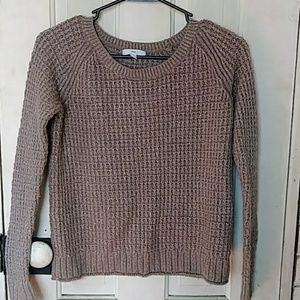 Gap brown sweater cropped with sparkle